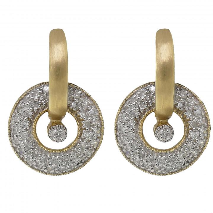 Женские серьги с бриллиантом 0.37 карат