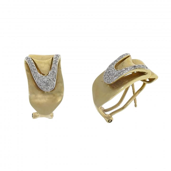 Женские серьги с бриллиантом 0.38 карат