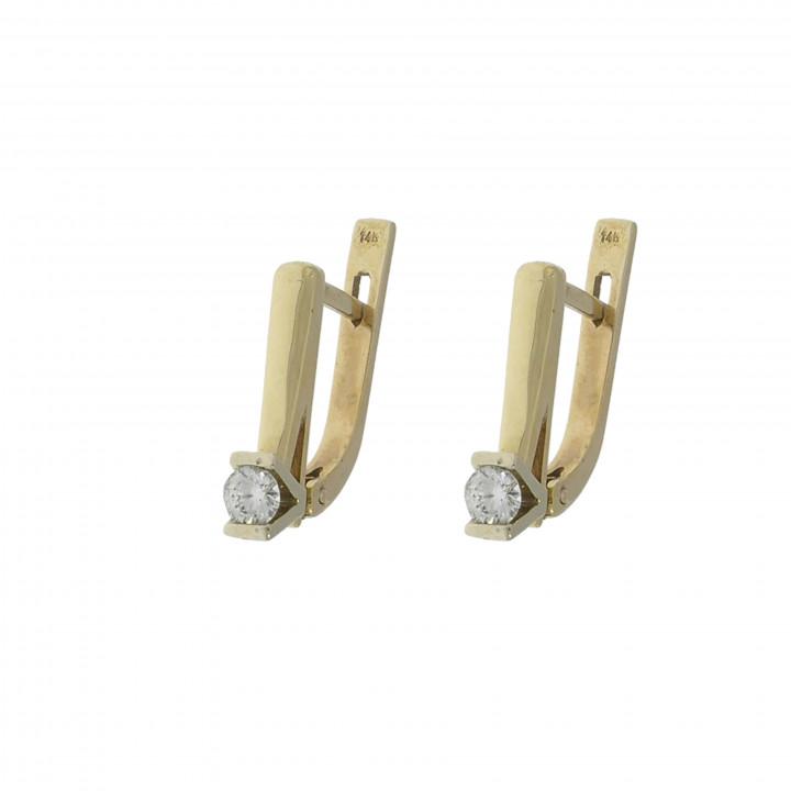 Женские серьги с бриллиантом 0.40 карат