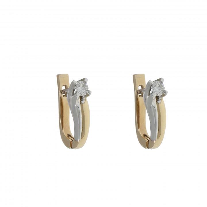 Женские серьги с бриллиантом 0.42 карат