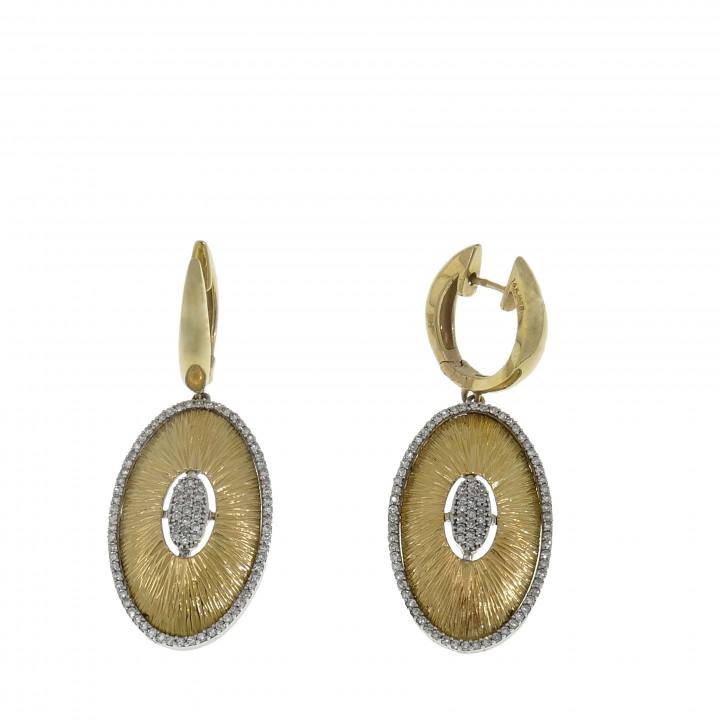 Женские серьги с бриллиантом 0.50 карат