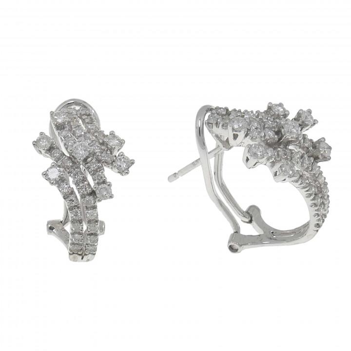 Женские серьги с бриллиантами 1 карат