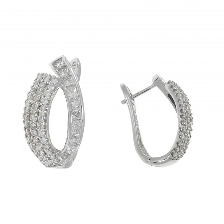Женские серьги с бриллиантами 2.11 карат