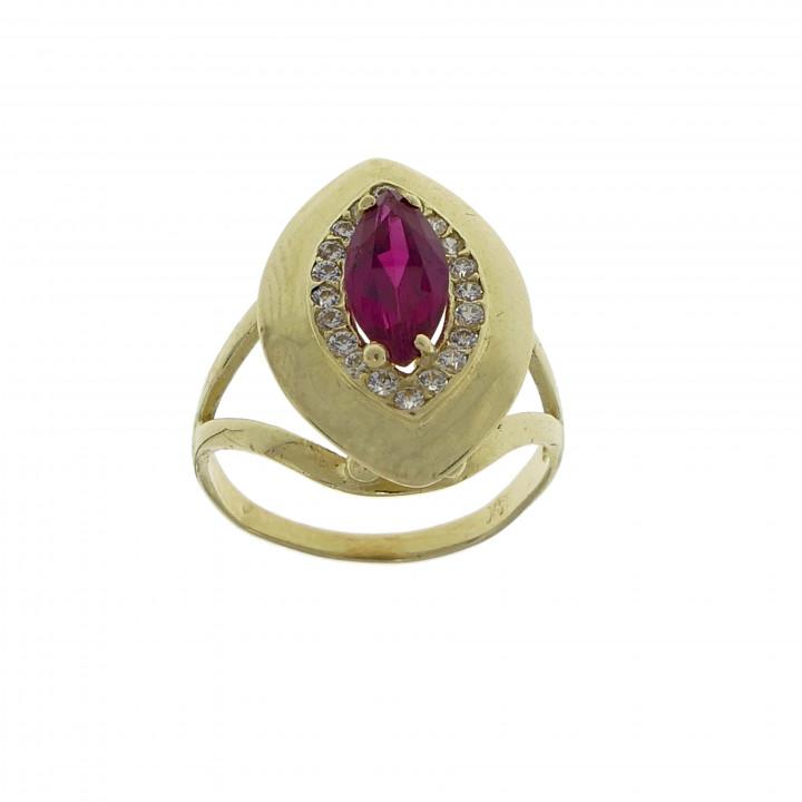 Женское кольцо с рубином
