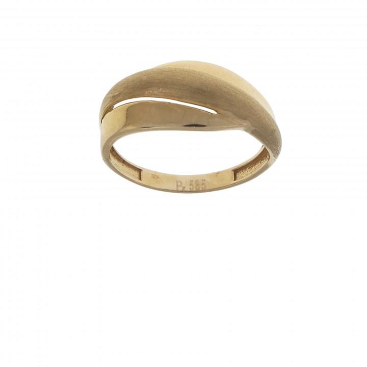 Женское кольцо красное золото