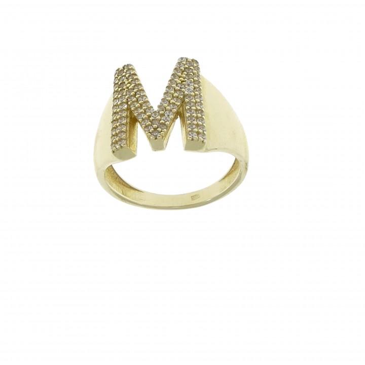 Золотое кольцо с буквой М