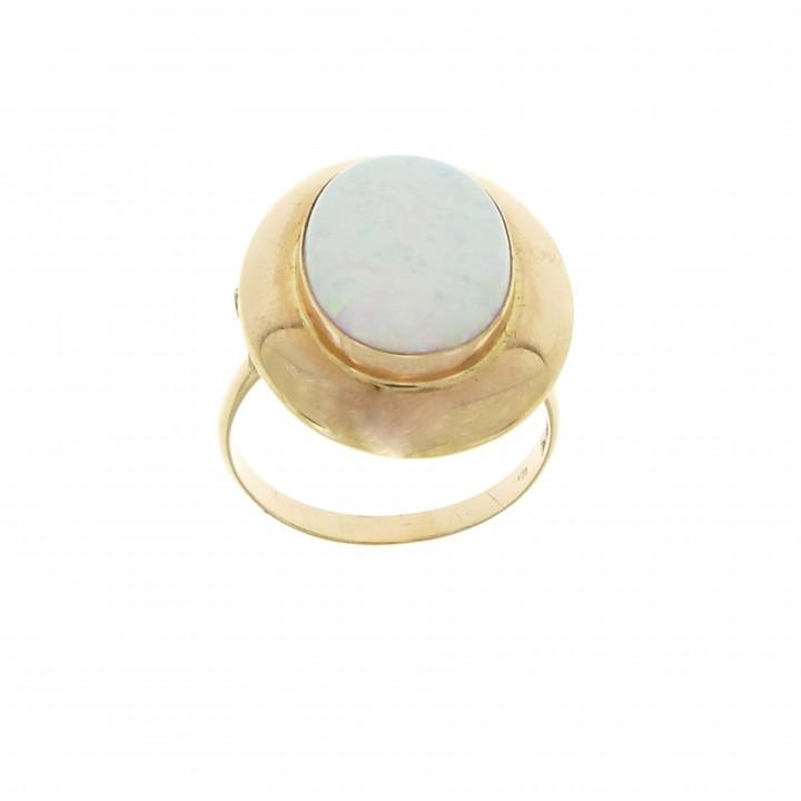 Кольцо для женщины, коралл, желтое золото 14 карат