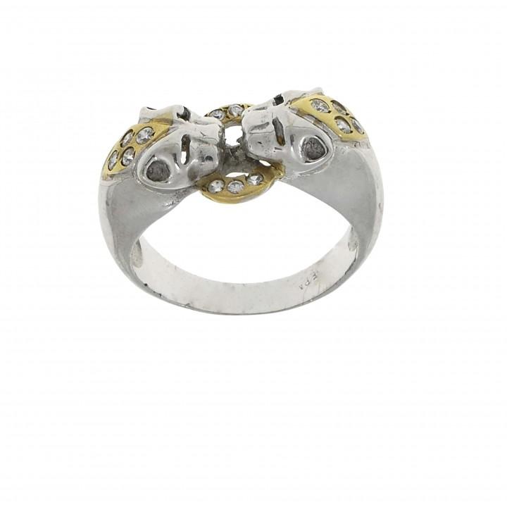Золотое кольцо с головой пантеры