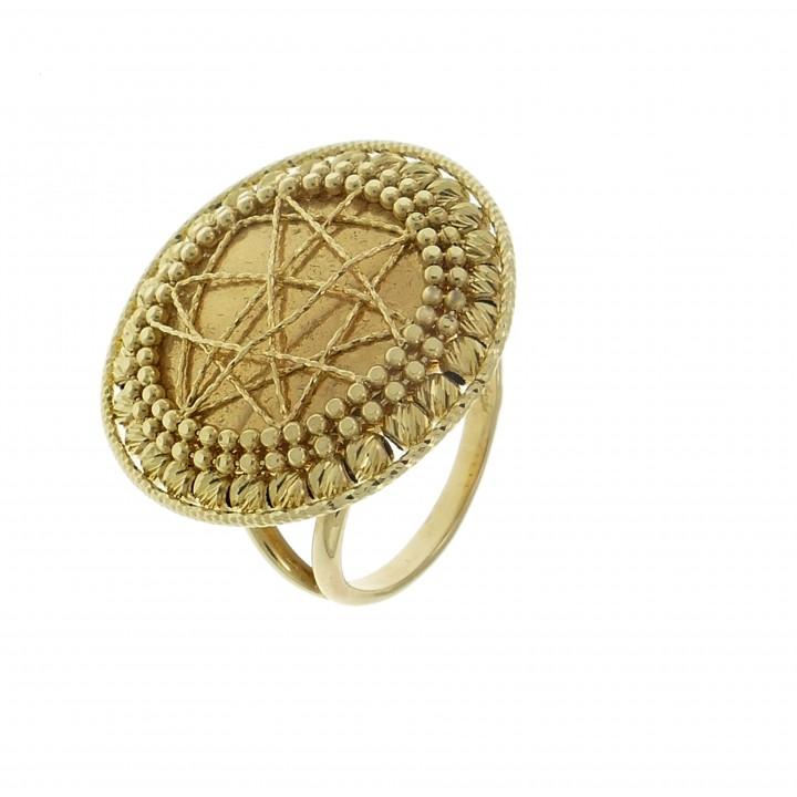золотое кольцо широкое