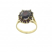 Ring for a woman, ruby, 14k yellow gold