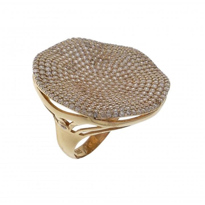 Золотое женское кольцо широкое