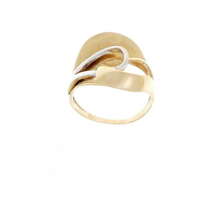 Кольцо для женщины. Красное и белое золото, 585