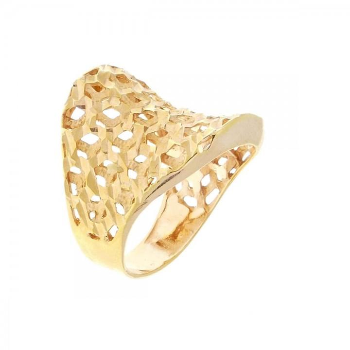 Женское кольцо, красное золото 14 карат