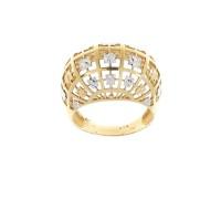 Кольцо для женщины, красное и белое золото 14 карат