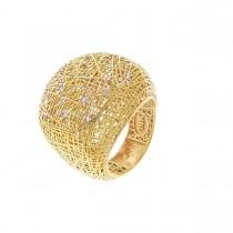 Кольцо для женщины, красное золото 14 карат