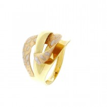 Кольцо для женщины, красное и желтое золото 14 карат