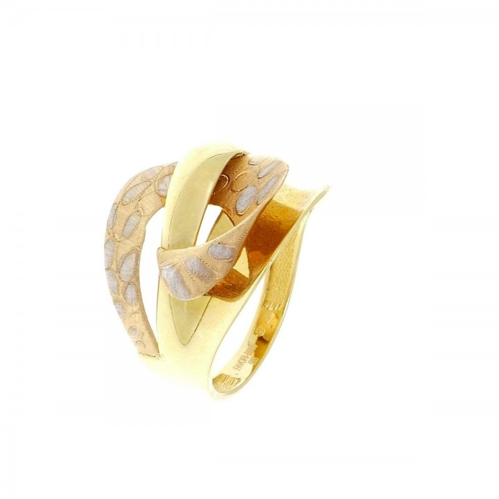 Ring for women, 14K red and yellow gold