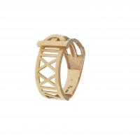 Кольцо для женщины, желтое и белое золото 14 карат