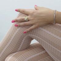 Кольцо для женщины, золото желтое, белое, красное 14 карат