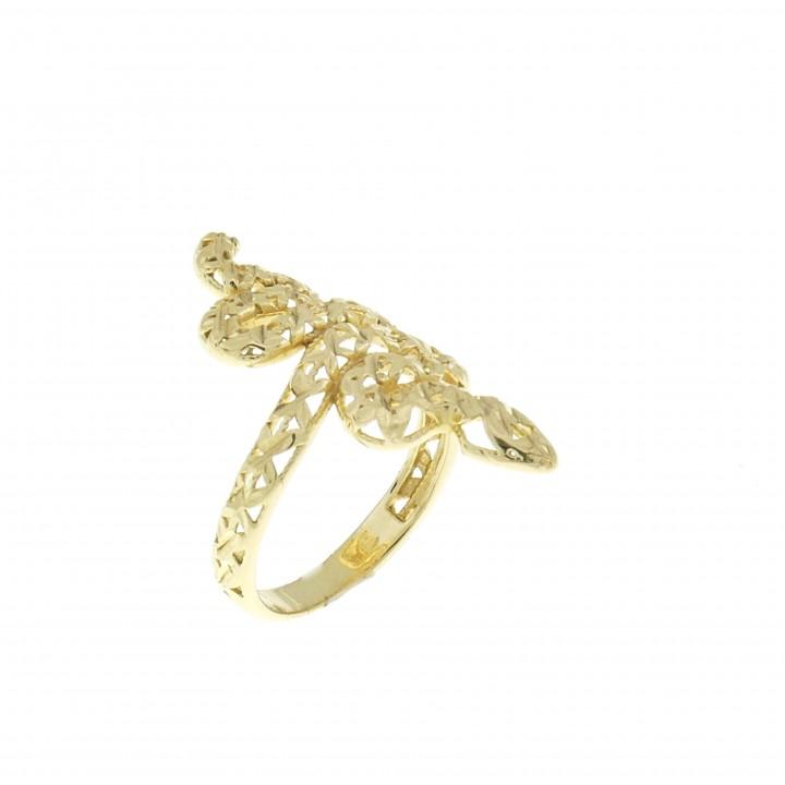 טבעת לנשים - נחש, זהב צהוב 14 קראט