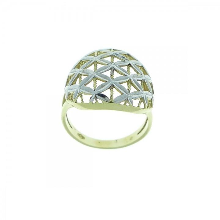 טבעת לאישה, זהב לבן וצהוב 14 קראט