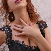Кольцо для женщины, рубин, желтое золото 14 карат