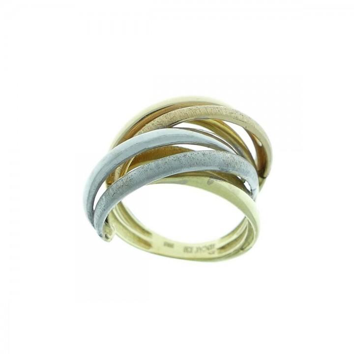 Кольцо для женщины, красное, белое, желтое золото 14 карат