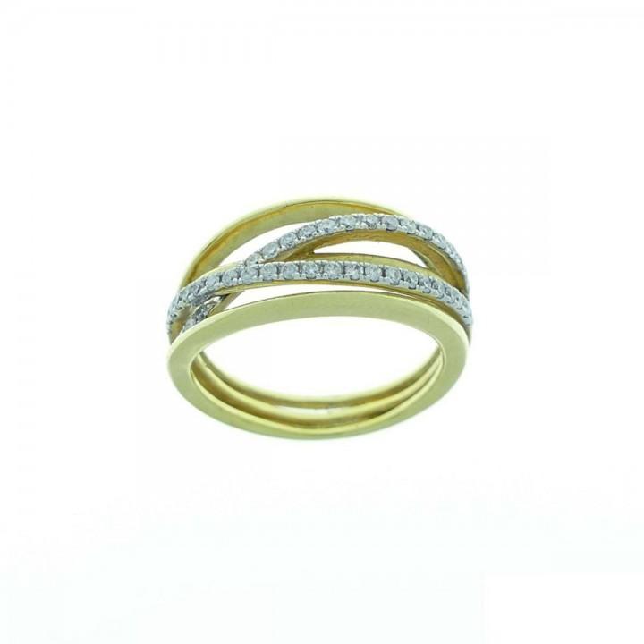 Золотое кольцо с бриллиантами 0.3 карата