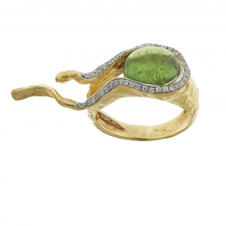 Женское кольцо с турмалином