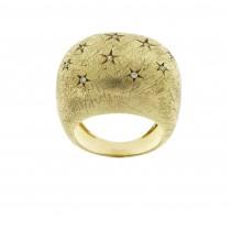 Кольцо для женщины, желтое золото 14 карат с бриллиантами