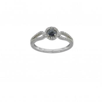 Кольцо для женщины белое золото 14 карат с бриллиантами