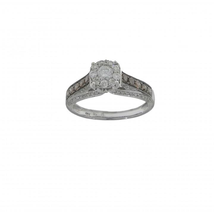 Кольцо с бриллиантами 1.12 карат