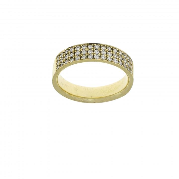 Золотое кольцо с бриллиантами 0.50 карат