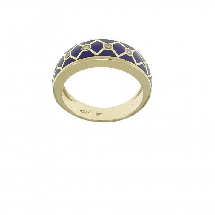 Золотое кольцо с бриллиантами 0.16 карат