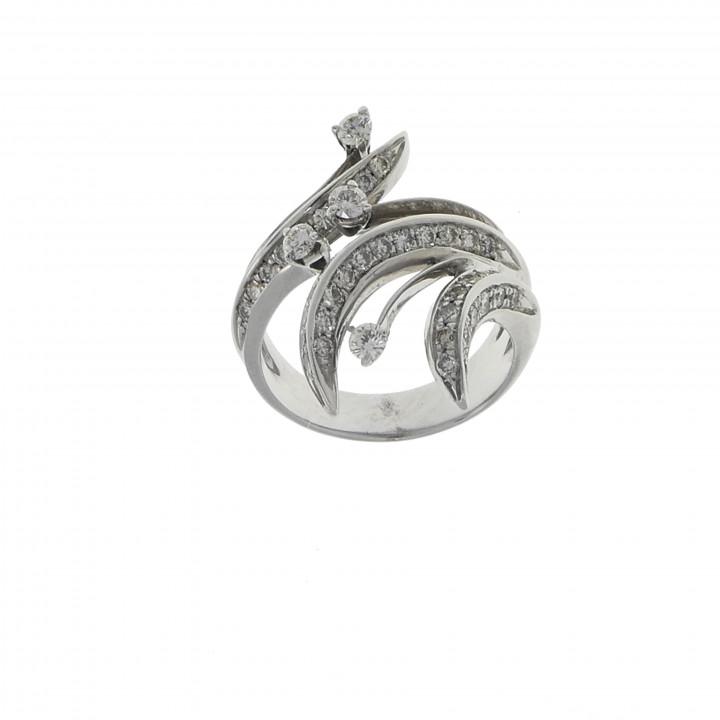 Золотое кольцо с бриллиантами 1.20 карат