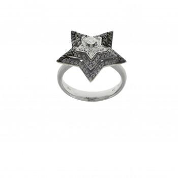 Кольцо для женщины белое золото 18 карат с бриллиантами