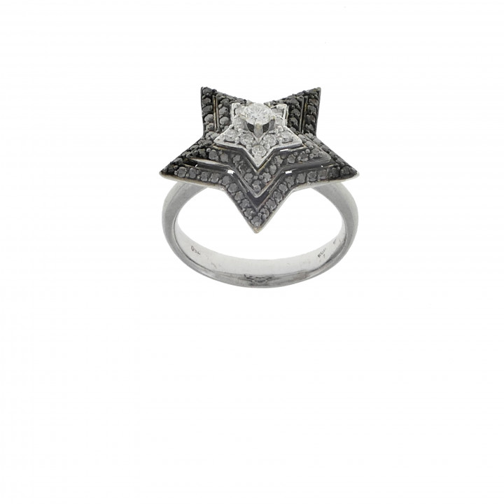 Кольцо с бриллиантами - звезда