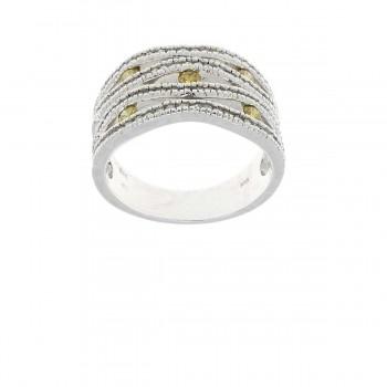 Кольцо для женщины, белое золото 14 карат с бриллиантами