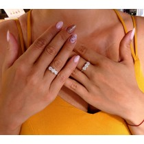 Ring for a woman, 14K yellow / white gold with diamonds