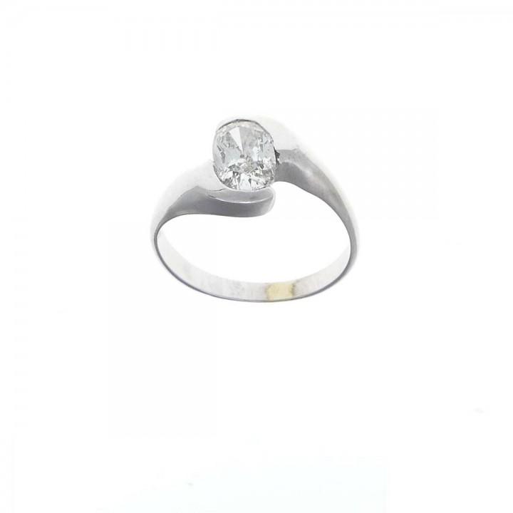 Кольцо с бриллиантом 1 карат