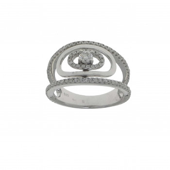 Set for woman - ring and earrings with diamonds