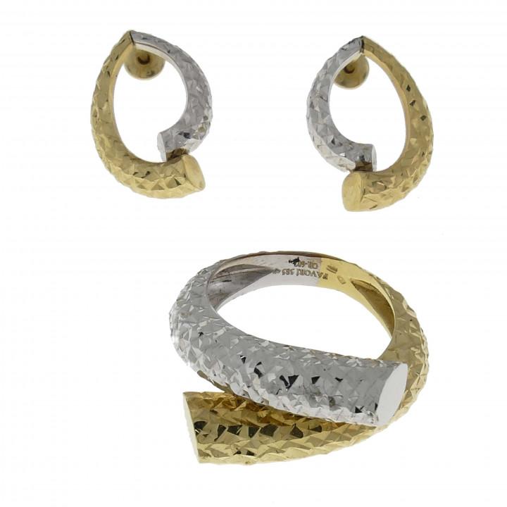 Дизайнерский женский набор кольцо и серьги