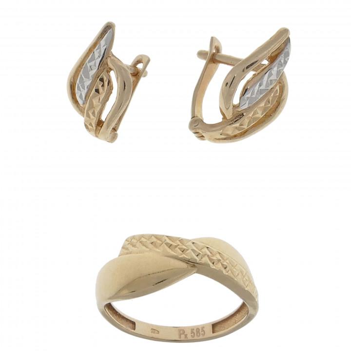 Женский сэт кольцо и серьги