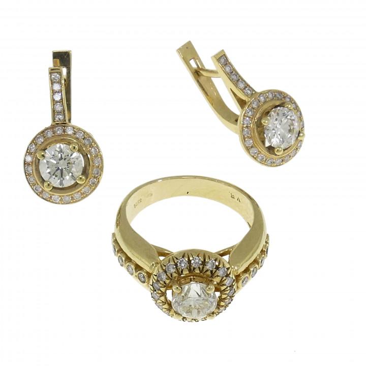 Сет для женщины с бриллиантами