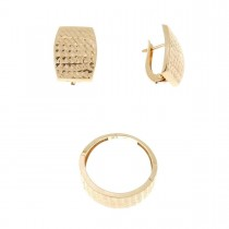 Set for women - ring and earrings, red gold