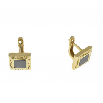 Set for women - ring and earrings, 14K yellow gold with onyx